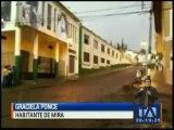 Fuerte lluvia inundó 40 casas en Mira