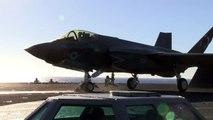 F 35C Lightning II lleva a cabo pruebas de desarrollo a bordo de USS Nimitz