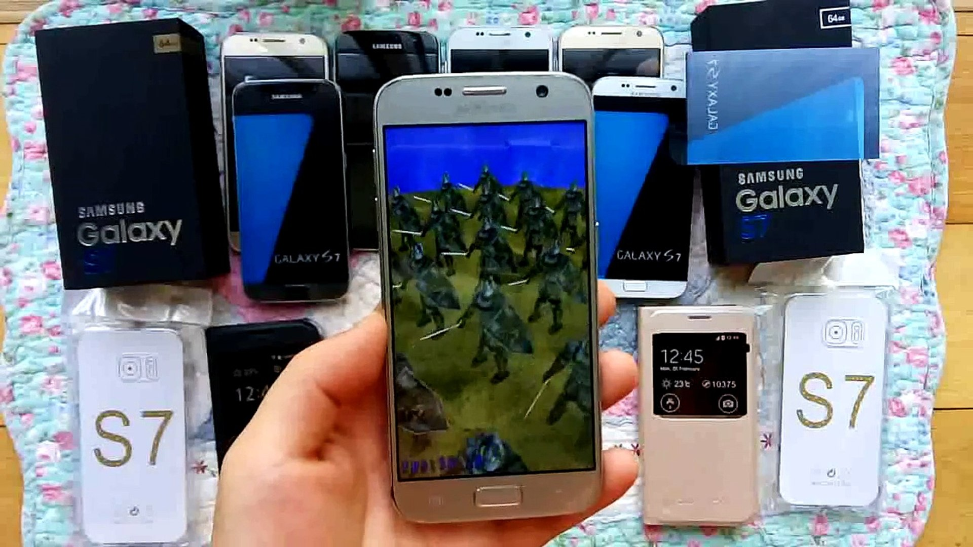 Samsung Galaxy S7 Clone Snapdragon 820 RAM 4GB ROM 64GB Golden Color Antutut Review 2