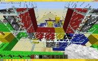 Minecraft 3x3 piston door. Fast, small, simple, no redstone nor pistons showing.