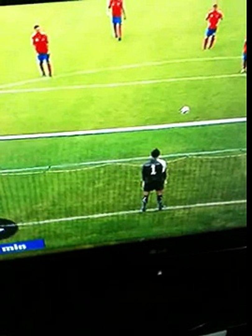 Spain v Italy penalty Under 19's