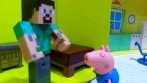 Aniversario do Steve Minecraft na casa do George Pig - Novelinha da Peppa Pig e Minecraft Peppa Pig