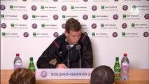 Roland-Garros 2016 - Conférence de presse Tomas Berdych - 1/8