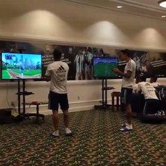 Inter, Banega si diverte giocando a baseball