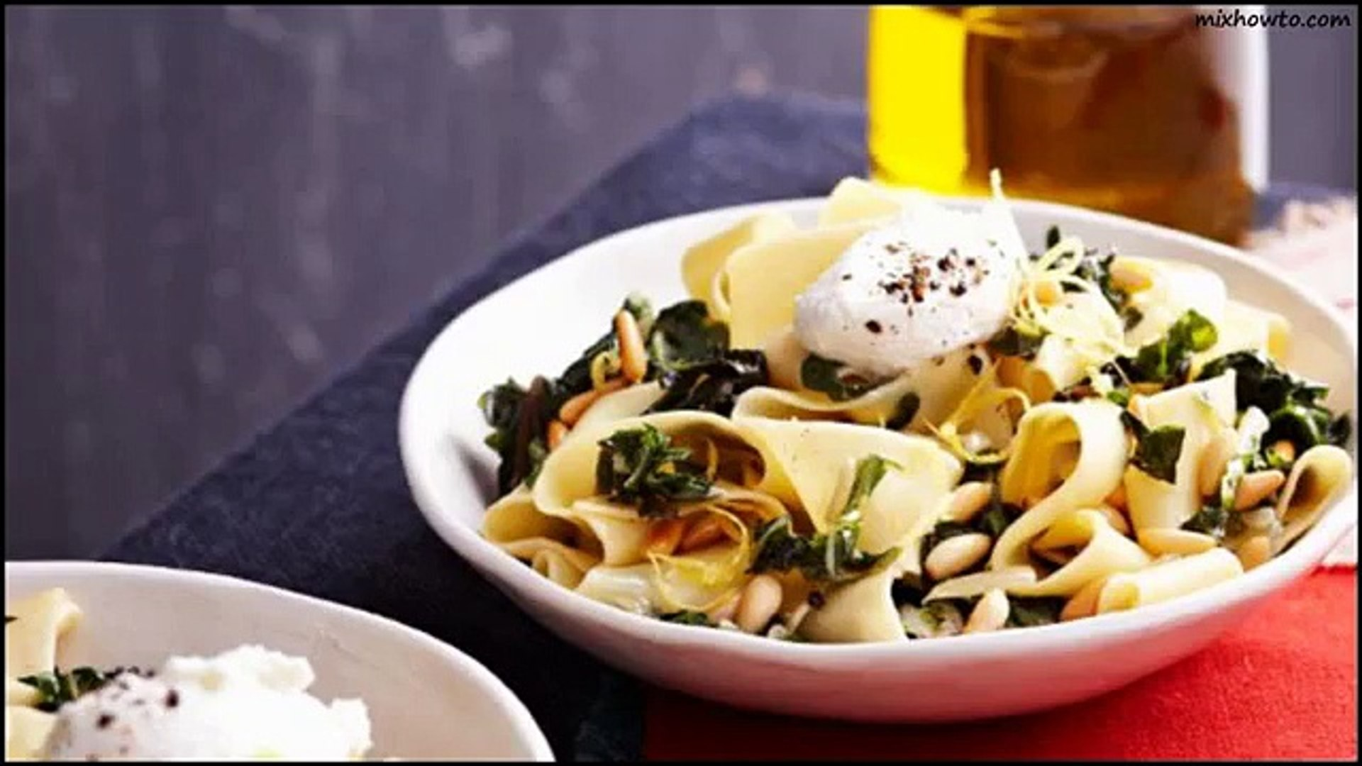 Recipe Pappardelle with silver beet, goats cheese, chilli and lemon