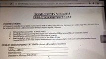 Boise County Sheriff's Public Records Request; Idaho; Is this still a fair system with modern tech