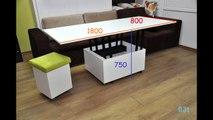 Magic By Ozzio Design.Tavolino Trasformabile Magic By Ozzio Design Transformable Table