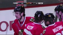 Patrick Sharp goal Feb 19 2013 Vancouver Canucks vs Chicago Blackhawks NHL Hockey
