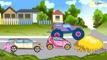 Dessin animé voiture. Le Camion Monstre, Camion poubelle, Grue pour bébés. TikiTaki Dessins Animes