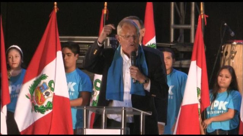 Kuczynski ofrece su último mitin en Lima ante miles de seguidores