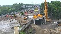 Creuser un tunnel sous une autoroute en 2 jours seulement aux Pays-Bas ! Time lapse impressionnant