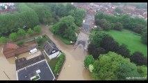 Les inondations de Bruay La Buissière vues du ciel