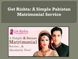 Pakistan Matrimonial Get Rishta - video dailymotion