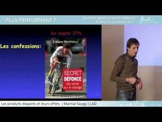 Les produits dopants et leurs effets - Martial Saugy
