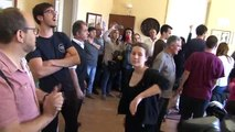 Aldarulls al despatx del rector de la Universitat de Lleida entre professors i ocupes