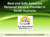 Best and Safe Asbestos Removal Service Provider in South Australia