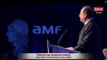 Début de sifflets contre François Hollande à l'assemblée des maires