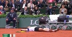 Richard Gasquet s'effondre face à Andy Murray (vidéo)