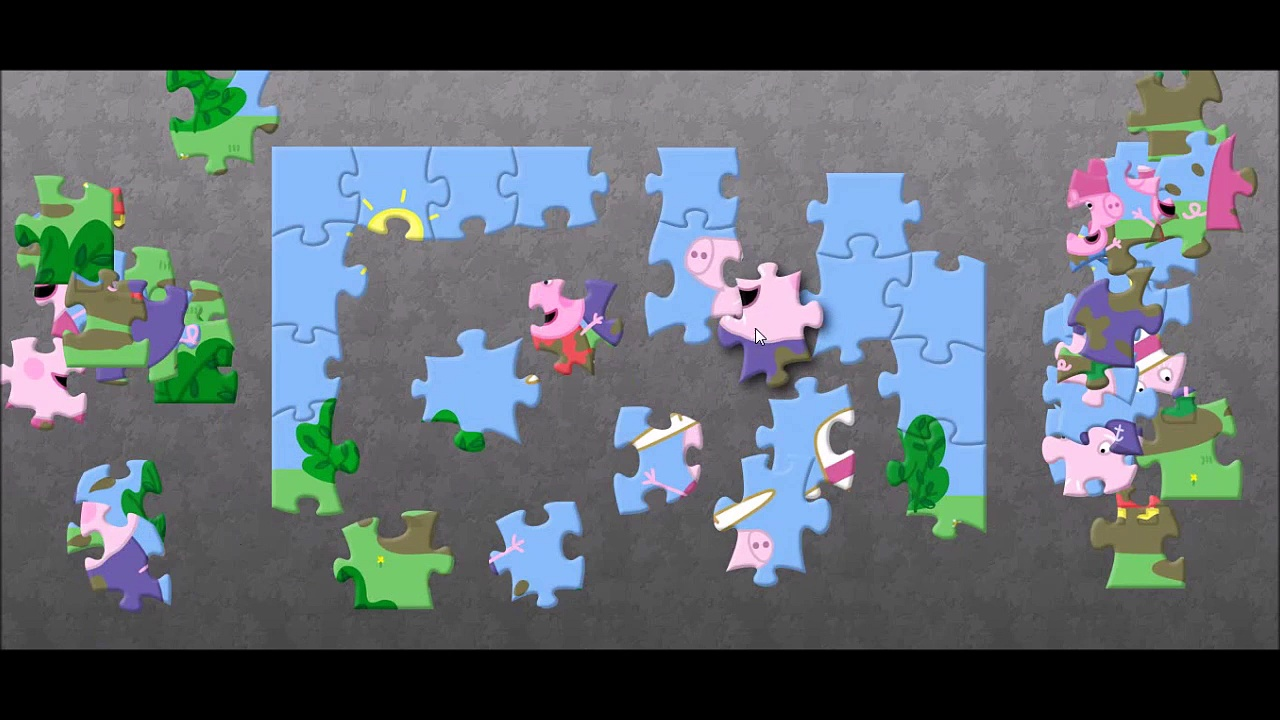 Peppa Pig George Pig Puzzle Game Pigs Rompecabezas Jigsaw