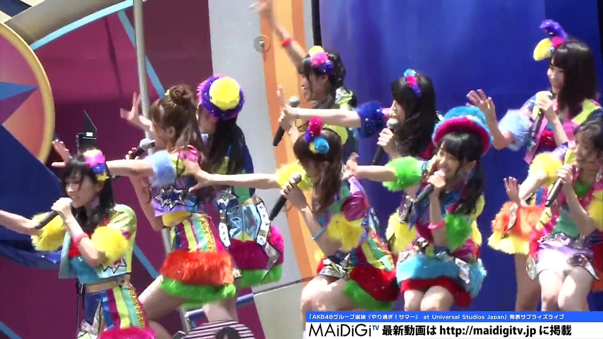 [ MAiDiGi TV] AKB48 Group Senbatsu at Universal Studios Japan