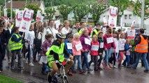La Bresse : près de 350 personnes manifestent contre  la fermeture du collège des Boudières