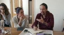 Reunión de discusión de argumentario en Podemos