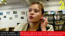 CHARLIE HEBDO : Deux journalistes à la rencontre des élèves du lycée Jules-Ferry de Conflans-Sainte-Honorine