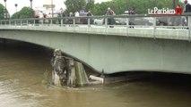 Inondations. A Paris, le Zouave baigne dans la Seine et fait parler