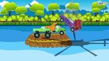 Car Cartoons for children. Truck & Monster Truck & Racing Car. Trucks - Fire Truck & Garbage Truck