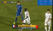 Benjamin Mendy RED CARD - Italy U21 vs France U21 Friendly Match 02-06-2016