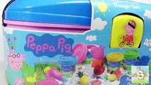 Play Doh Surprise eggs  PLAY DOH Peppa Pig Picnic Mummy Pig Daddy Pig  Peppa Pig Toys