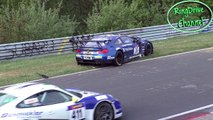 Nordschleife HARD CRASH BMW M6 GT3 BMW Z4 Porsche Cayman GT4 - VLN 3 14 05 2016 Nürburgring