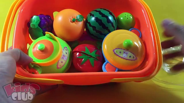 Toy Cutting Velcro Fruits and Vegetables Cooking Set