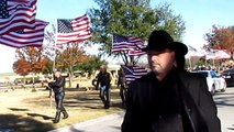 19-year-old Private First Class Austin Staggs. Patriot Guard Riders flag march