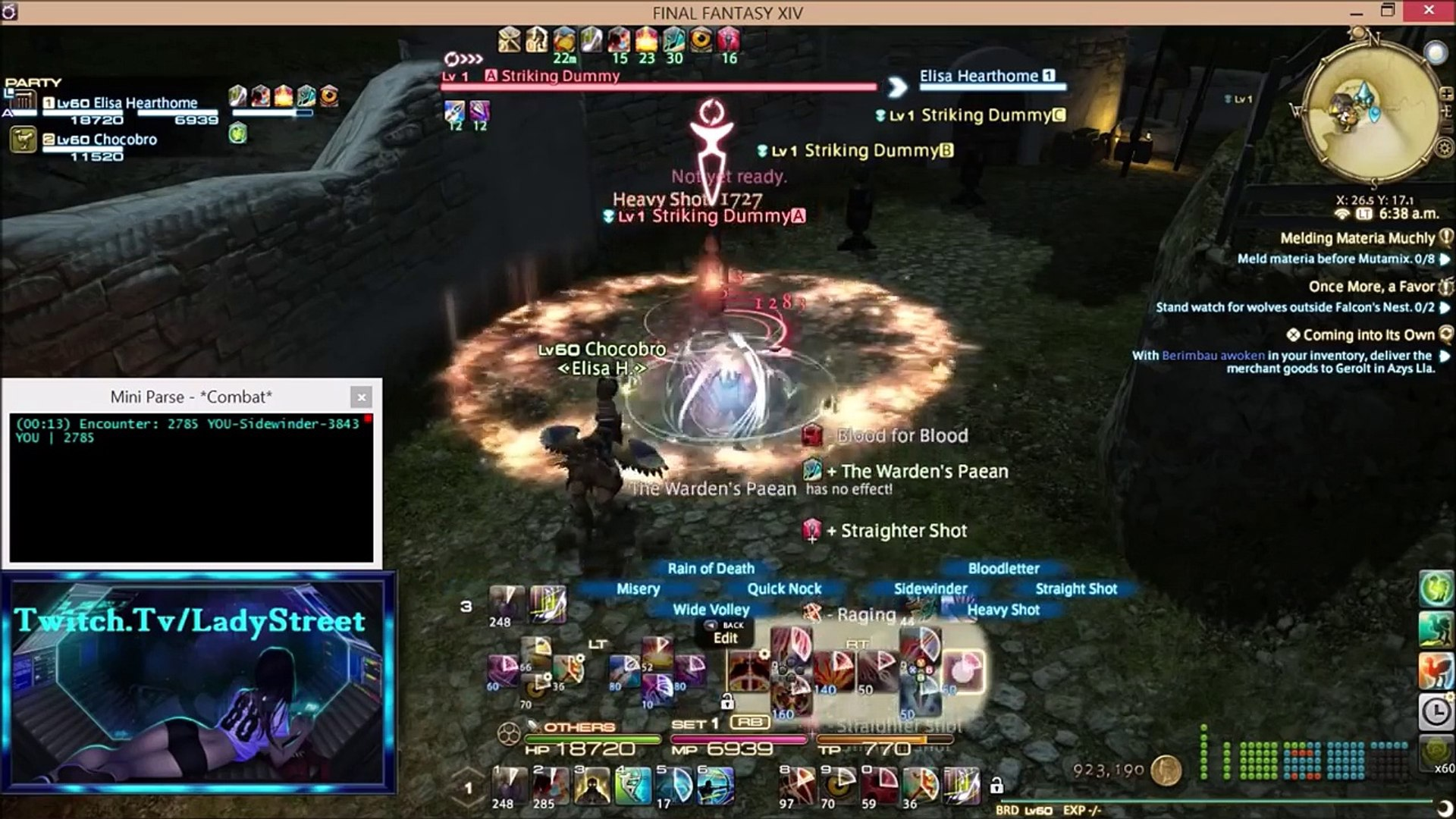 FFXIV, Bard Rotation 1550dps+ No Misery Ends! April/11/2016