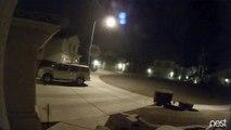 Chute d'une météorite de nuit dans l'Arizona
