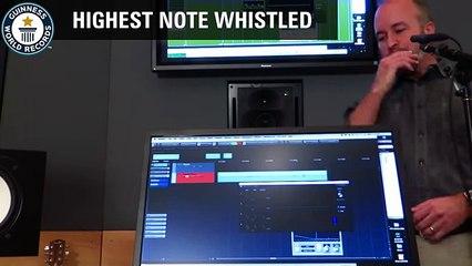 highest Note whistled- Guinnes world Record.