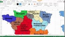 Excel - Comment créer une carte de France avec l'outil Forme