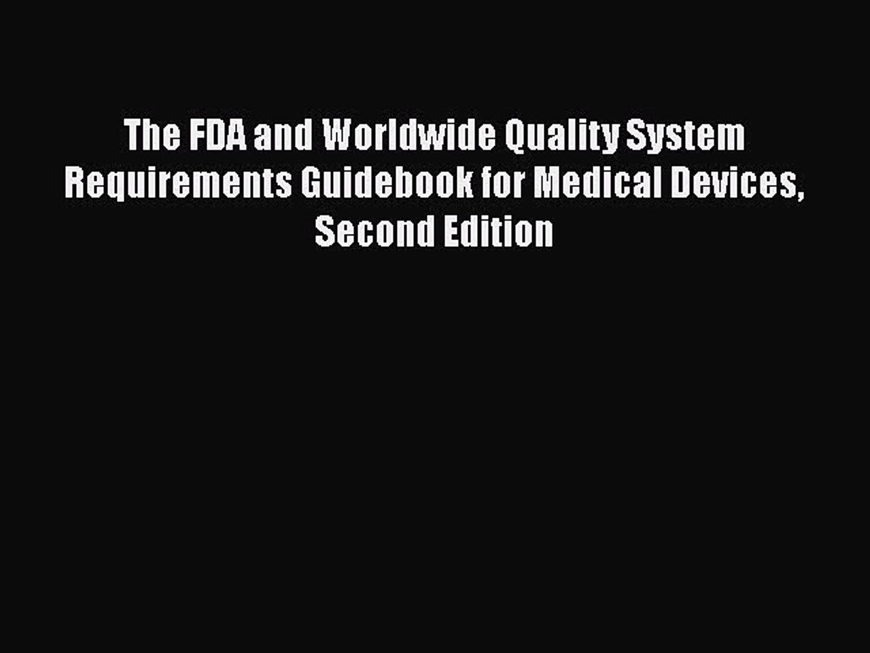 FDA Worldwide Quality Requirements