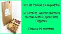 Set Bacchette Bastoncini chopsticks cucchiaio Sushi 5 Coppie Cinesi Giapponesi