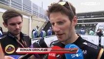Sky Sports F1 2013   19 Brazilian GP   Post Race  Oil leak spoils Romain Grosjean's day