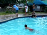 philippines clown swimming pool crazy jump cuyapo