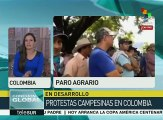 Colombia: rechaza Santos reunión con voceros del paro agrario nacional