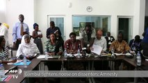 Gambia tightens noose on dissenters: Amnesty
