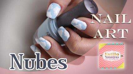 Nubes, Nail Art by Luli Gugli | ESTILO NOSOTRAS