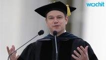 Matt Damon Tells MIT Graduates To Face World's Problems