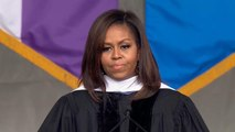 Michelle Obama makes dig at Trump in commencement speech
