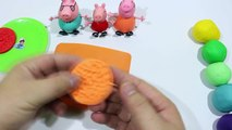 Play Doh Create Clay Biscuit VS Cookie Rainbow With Peppa Pig Español 2016