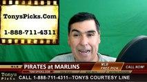 Pittsburgh Pirates vs. Miami Marlins Pick Prediction MLB Baseball Odds Preview 6-2-2016