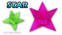 Origami Stars Folding Instructions - How to Fold an Origami Star - F2BOOK Video 144